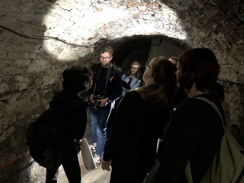 Dr Tom Schofield leads a guided tour. Image: Newcastle University