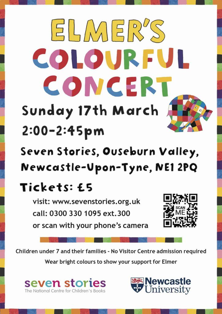 Elmer's Colourful Concert is on Sunday 17th March 2019!