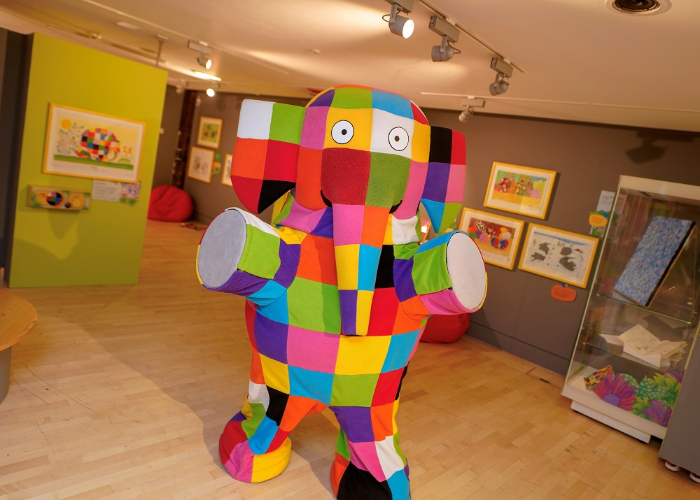 Elmer makes an appearance... Image: Seven Stories, The National Centre for Children's Books