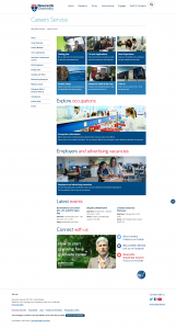 Careers website homepage