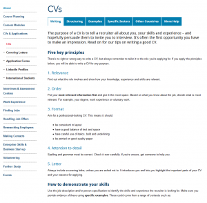 Screenshot of new careers page which is much shorter