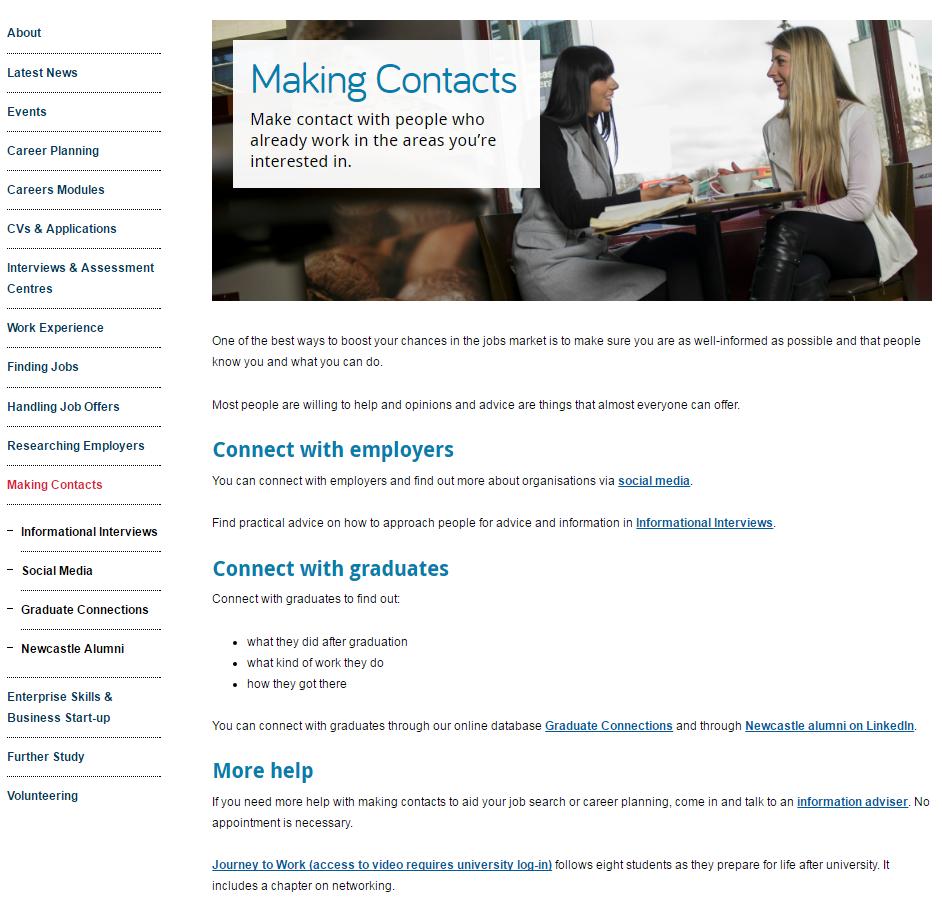 masthead on the Careers website